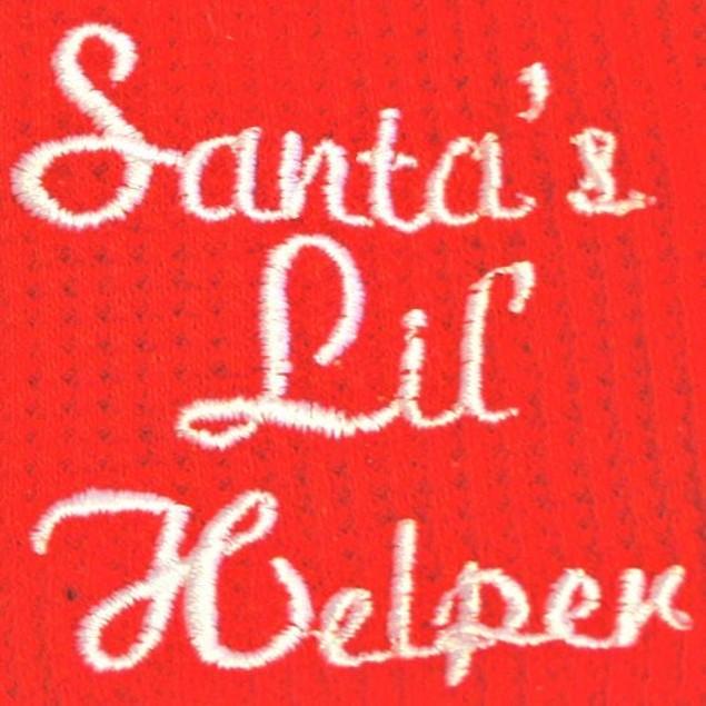 Doggie Design Santa's Lil Helper Embroidered Dog Pajamas, Small