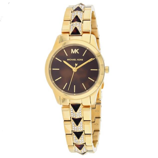 Michael Kors Women's Runway Brown Dial Watch - MK6855