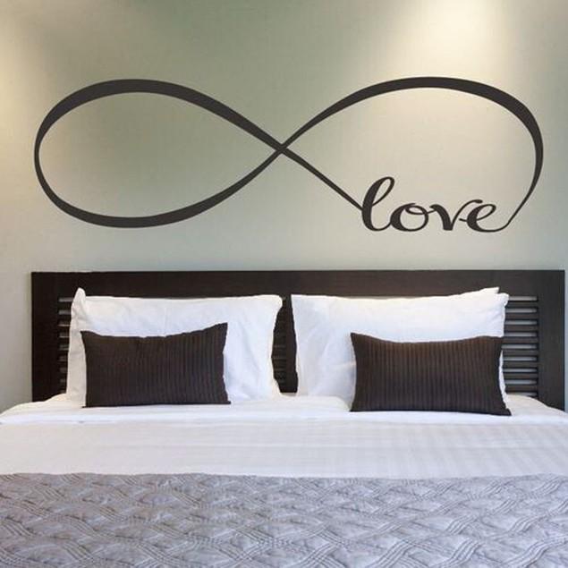Bedroom Wall Stickers Decor Infinity Symbol Word Love Vinyl Art