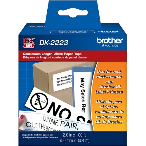 Brothers Brother Printer Continuous Length White Paper Tape (DK2223)