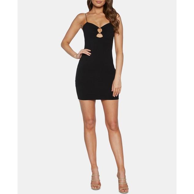 Bardot Women's Sweetheart Ring Body-Con Minidress Black Size Medium