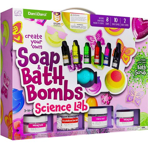 Soap & Bath Bomb Kit for Kids - Create Your Own Soap & Bath Bombs