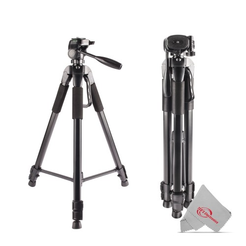 """Vivitar 72"""" High Quality Tripod 15lb Capacity 3-Way Fluid Pan Head Quick Release Bubble Level For Professional Cameras and Camcorders"""