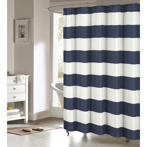 Toto Cabana Stripe Polycotton Shower Curtain