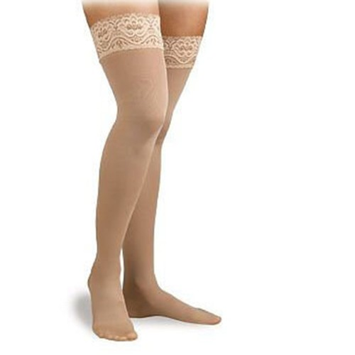 Activa Hosiery Soft Fit Thigh Leg Wear, Large: 20-30 mm Hg, Barely Beige