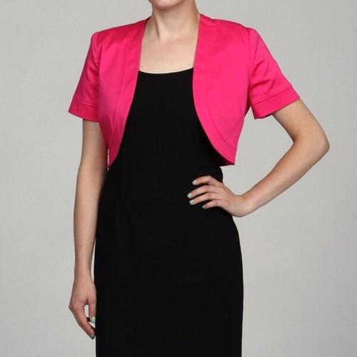Jessica Howard Women's Bolero Cardigan Pink Size Extra Large
