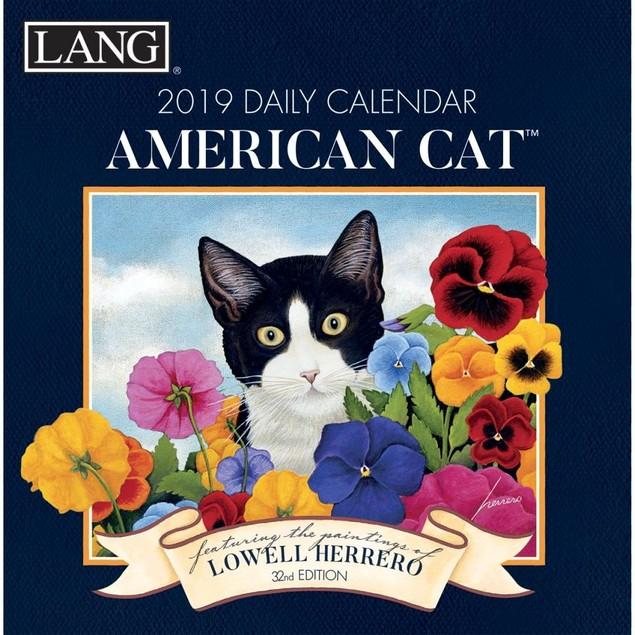 American Cat Desk Calendar, Cat Art by Calendars