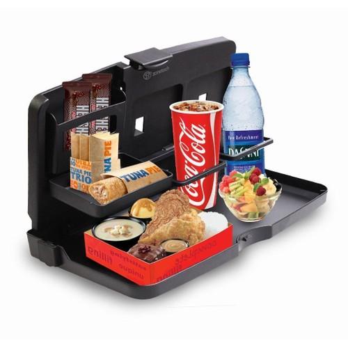 Zone Tech Back Seat Travel Food Drink Portable Desk Tray Holder Organizer