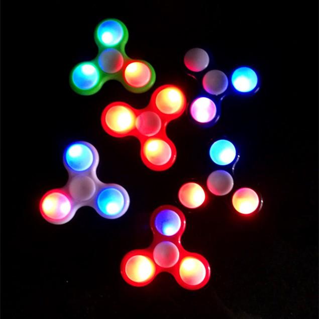 Led Fidget Spinner LED Light Hand Finger Spinner Fidget ABS Spiner EDC