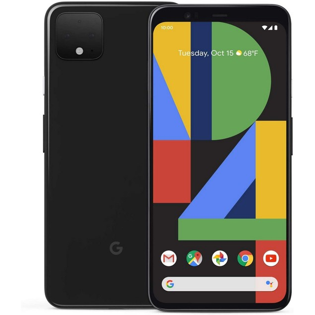 Google Pixel 4 XL, GSM Unlocked, Black, 64 GB, 6.3 in Screen