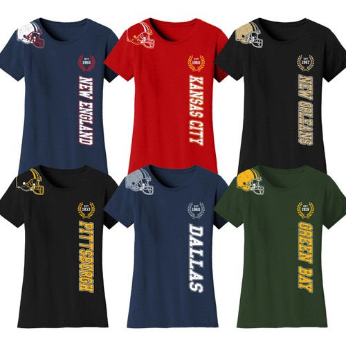 Women's Football Home Team T-Shirts