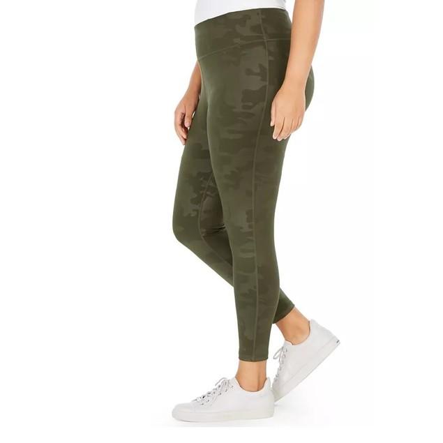 Ideology Women's Cool Camo Leggings Green Size 1X