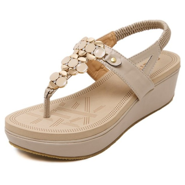 Comfy sandals - Fashion Metal Buckle Thick Bottom Sandals