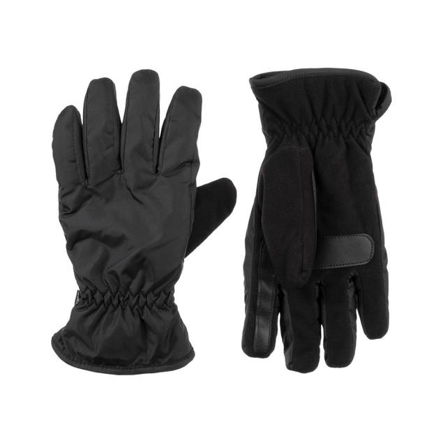 Isotoner Signature Men's Sleekheat Touchscreen Black Size Large