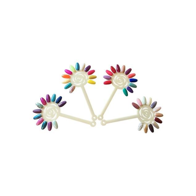 Nail Art Display Sticks Fan 120 nails (10 sticks), Practice Hand Tips