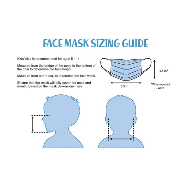 Kids 3-Ply Face Mask (20 or 50-Pack)