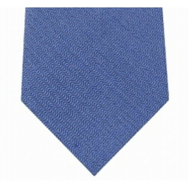 Calvin Klein Men's Slim Herringbone Tie Pasblue Size Regular