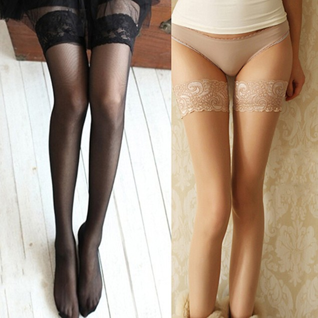 Women's Top Silicon Strap Anti-skid Thigh Nightclub High Stockings