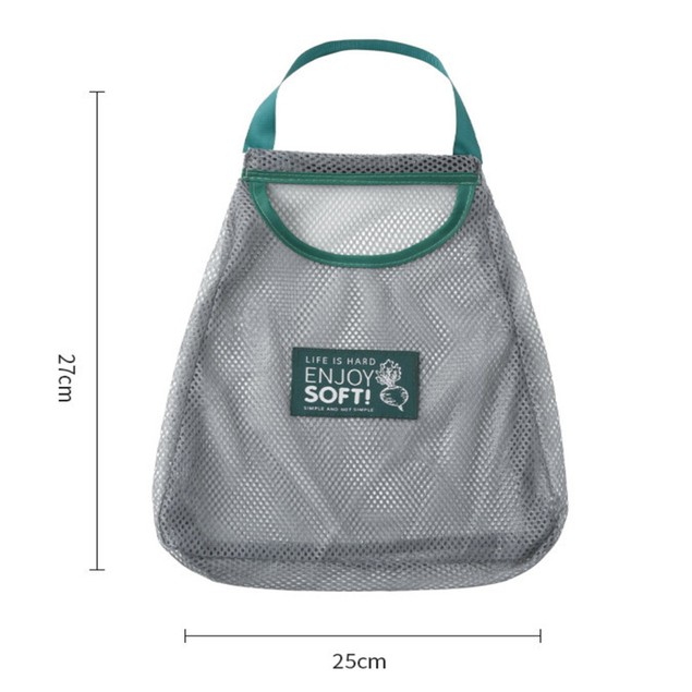 2-Pack Can Carry Fruit And Vegetable Net Bag Wall-mounted Storage Bag