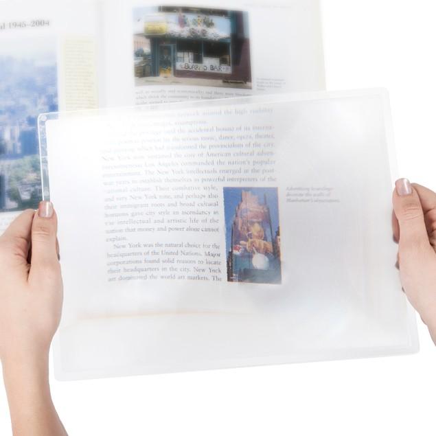 Stalwart 3x Print Magnifier Sheet - 8.5 x 11 Inches