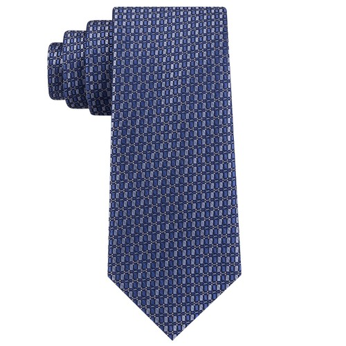 Michael Kors Men's Small Optical Geometric Tie Blue Size Regular