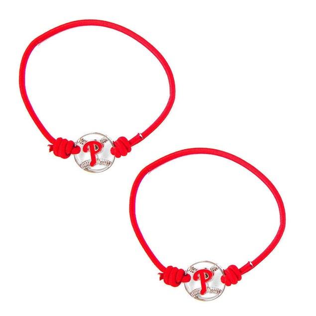 Philadelphia Phillies Stretch Bracelets Set of (2)  Hair Ties - MLB