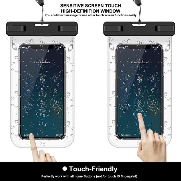 2PK Universal Waterproof Phone Pouch For Cellphone