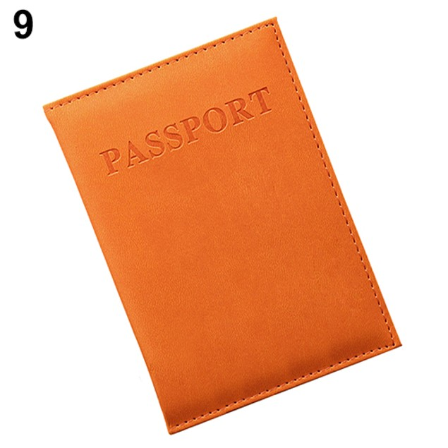 Travel Passport ID Card Cover Holder Case Faux Leather Protector