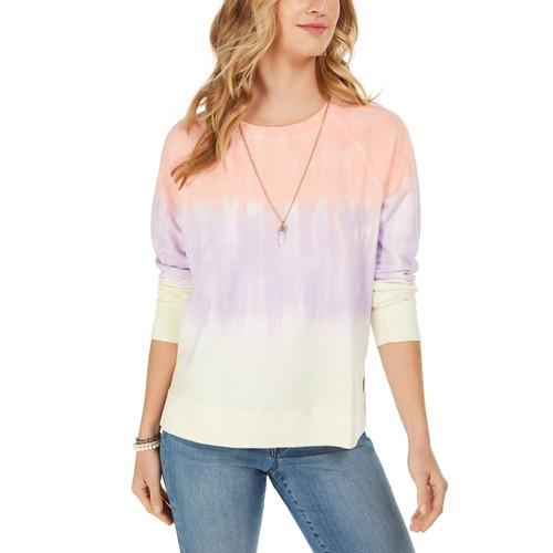 Style & Co Women's Tie-Dye Sweatshirt Pink Size XS