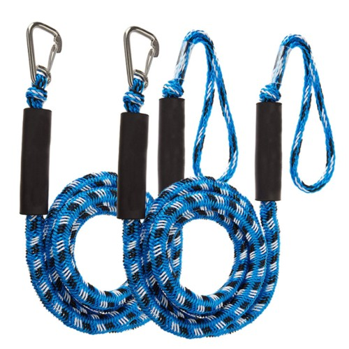 2-Pack Bungee Dock Line Boat Mooring Rope Cord Stretch