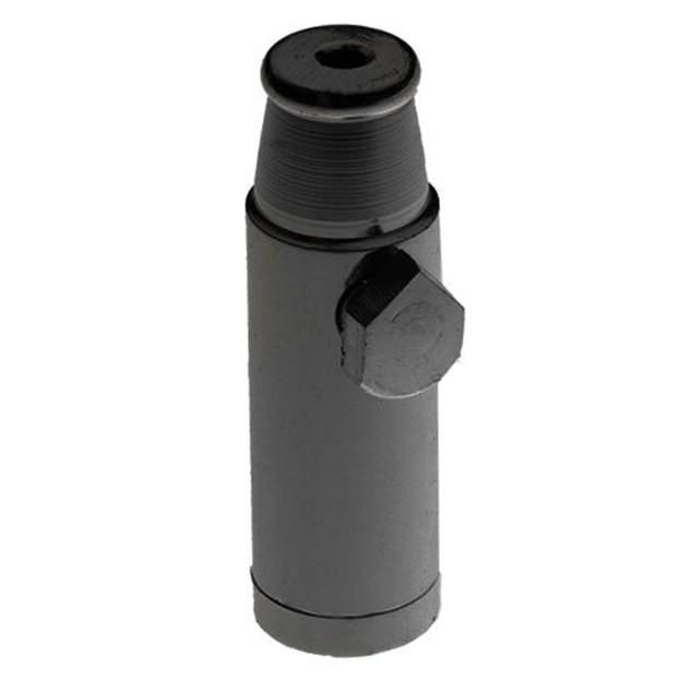 Black-Elegant Metal Sniffer Snuff Dispenser Powder Bullet Aluminum