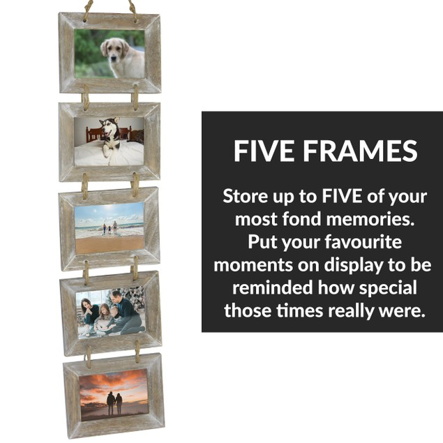 5 Wooden Picture Frame Hanger   MandW