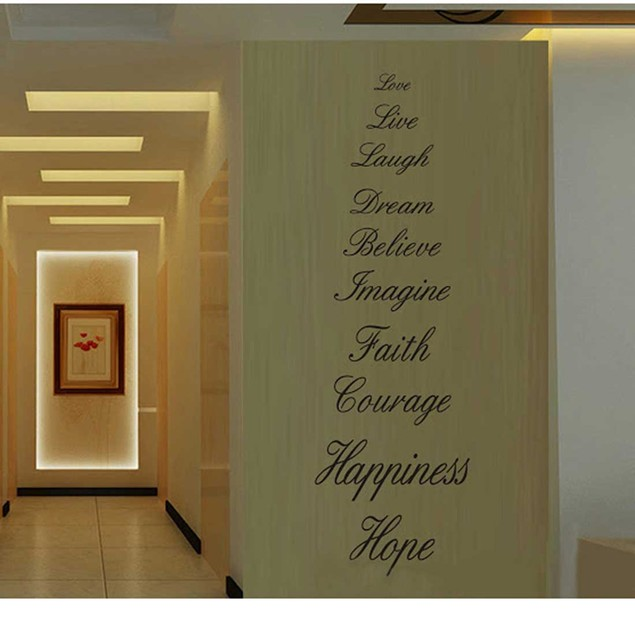 Love, Live, Hope, Laugh Wall Quote Decal