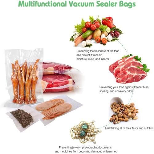 2 Pack  Free Cut-size Vacuum Food Packaging Bag Dot Rolls
