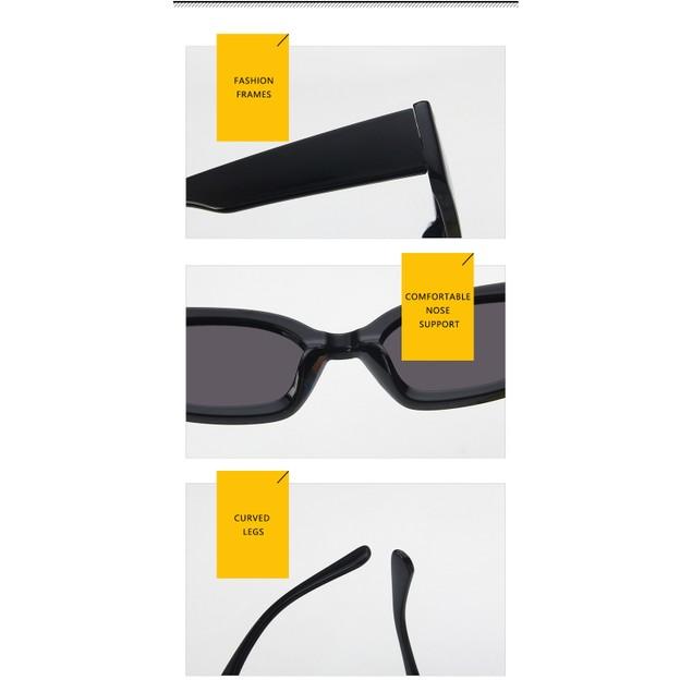Power Black Rectangle Women's Sunglasses