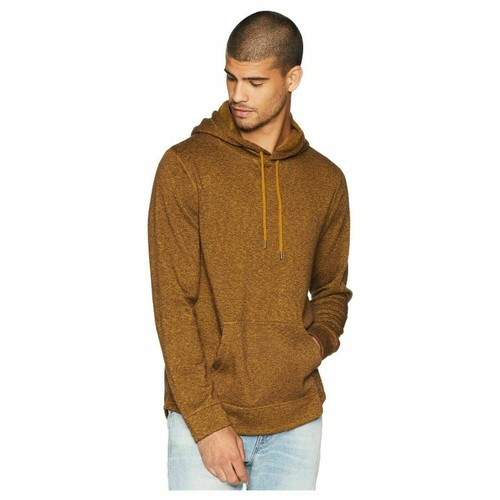 Levi's Men's Cash Textured Fleece Hoodie Gold Size Medium