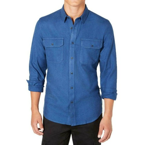 American Rag Men's Grindle Textured Shirt Blue Size Small
