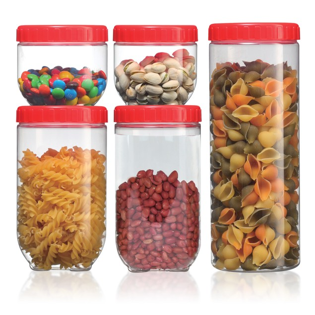 Volar Ideas Single Link 5 Piece Storage Jar Set