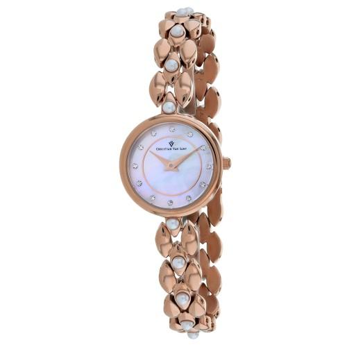 Christian Van Sant Women's Perla Pink mother of pearl Dial Watch - CV0615
