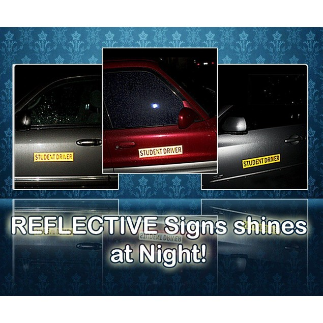 Zone Tech Student Driver Magnetic Sign Vehicle Reflective Car Magnet Bumper