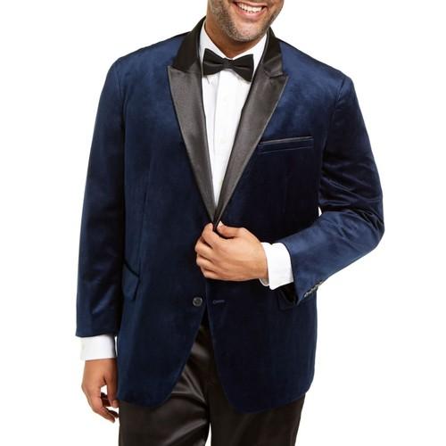 INC International Concepts Men's Mason Slim-Fit Velvet Blazer Size 2XLT