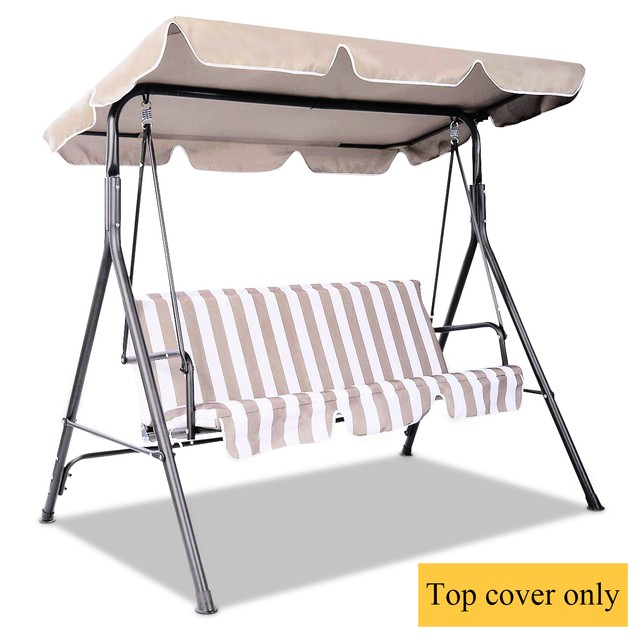 Costway Swing Top Cover Canopy Replacement Porch Patio Outdoor 66''x45'' 75