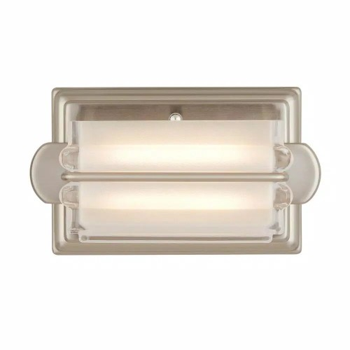Home Decorators Saltarell 8W Brushed Nickel LED Wall Sconce with Clear