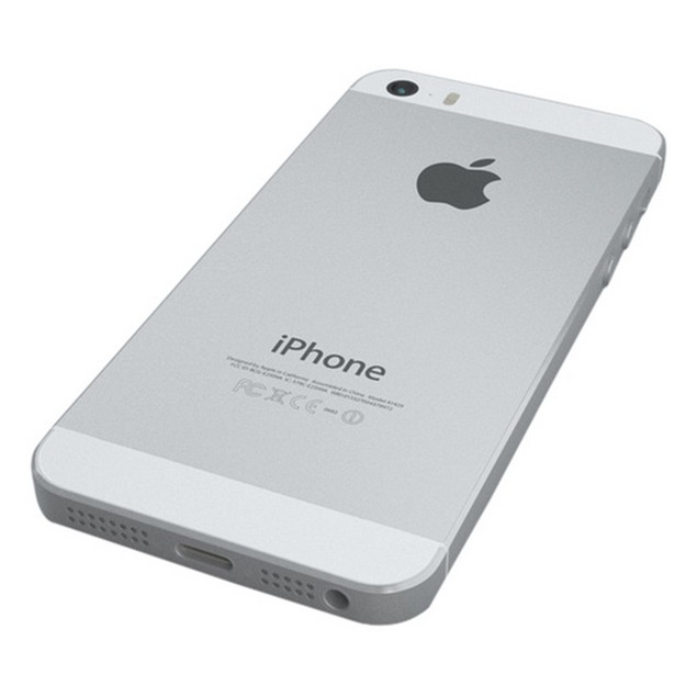 Apple iPhone 5s, Unlocked, Silver, 32 GB, 4.0 in Screen