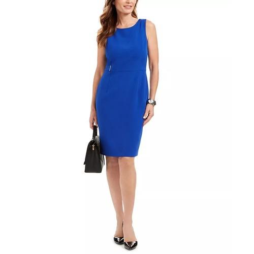 Kasper Women's Sheath Dress Dark Blue Size 4