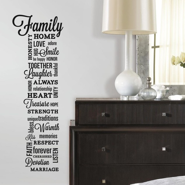 Roommates Nursery Baby Room Wall Decorative Family Quote Wall Decals