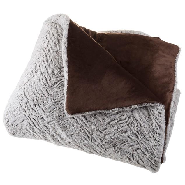 Mink Faux Fur Comforter Set