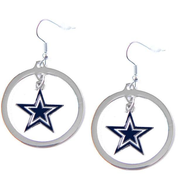 NFL Sports Team Logo Charm Hoop Earring Set
