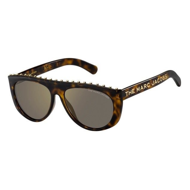 Marc Jacobs Women Sunglasses MARC492S 086 Havana Rectangle Mirrored 57 15 145
