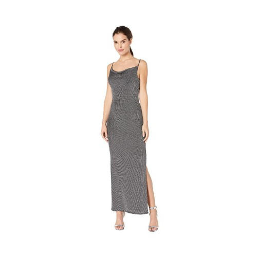 BCBGeneration Cowl Neck Tie Back Sleeveless Maxi Knit Dress, Small, Black